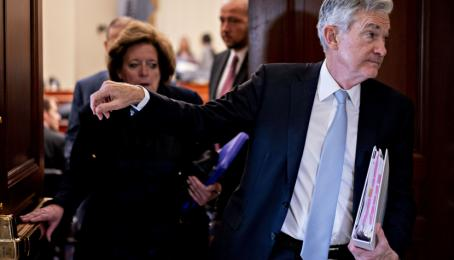 Fed-Chef Jerome Powell an einem Hearing in Washington im November 2019.