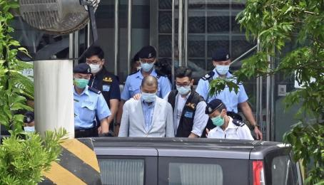 Medienunternehmer Jimmy Lai wird am 10. August von der Polizei in Hongkong verhaftet.