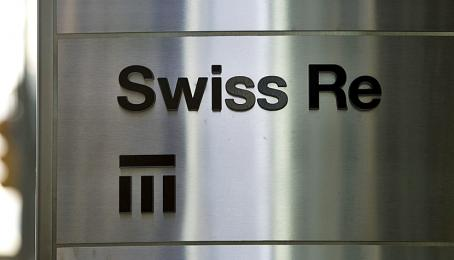 Türschild von Swiss Re bei der Niederlassung in Toronto, Kanada (29.8.2011).