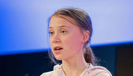 Greta Thunberg am World Economic Forum 2020.