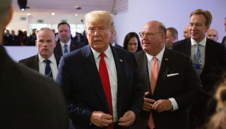 US-Präsident Donald Trump am World Economic Forum 2020.