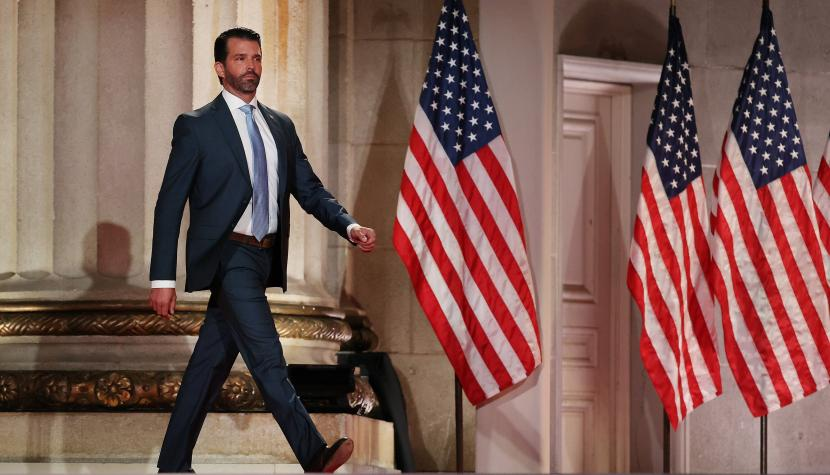 Donald Trump Junior am Republikaner-Parteitag 2020.