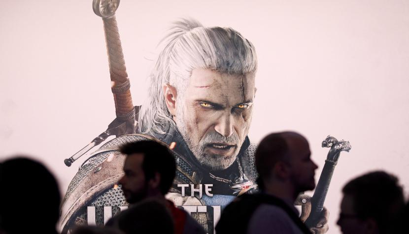 "Plakat des Videospiels ""The Witcher""."
