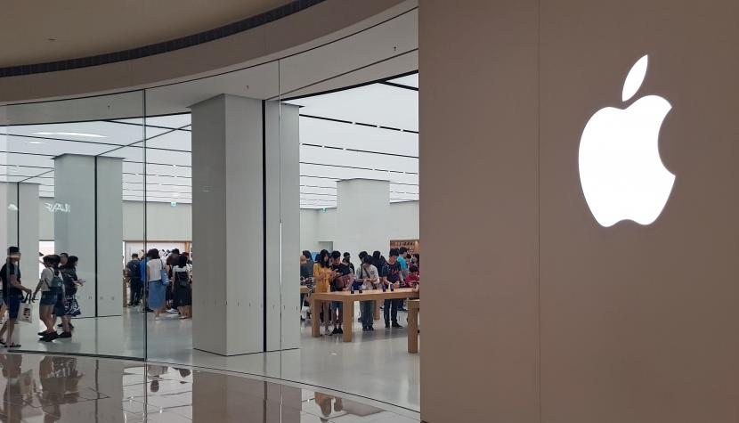 Apple-Store in der 101 Shopping Mall in Taipei, der Hauptstadt von Taiwan.