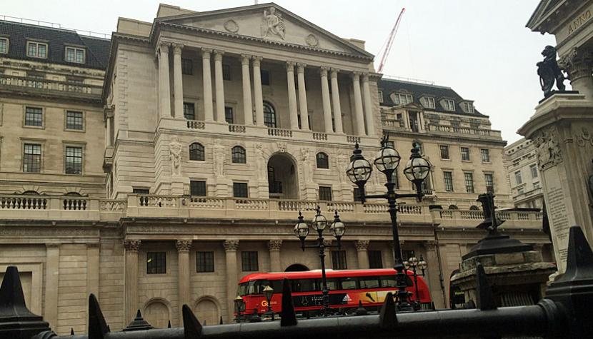 Der Hauptsitz der Bank of England an der Threadneedle Street in London.