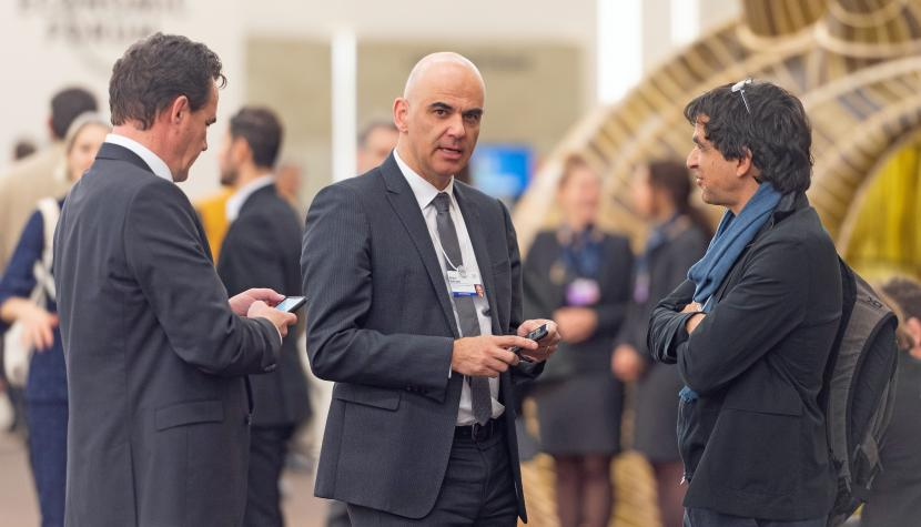 Bundesrat Alain Berset am World Economic Forum 2020.