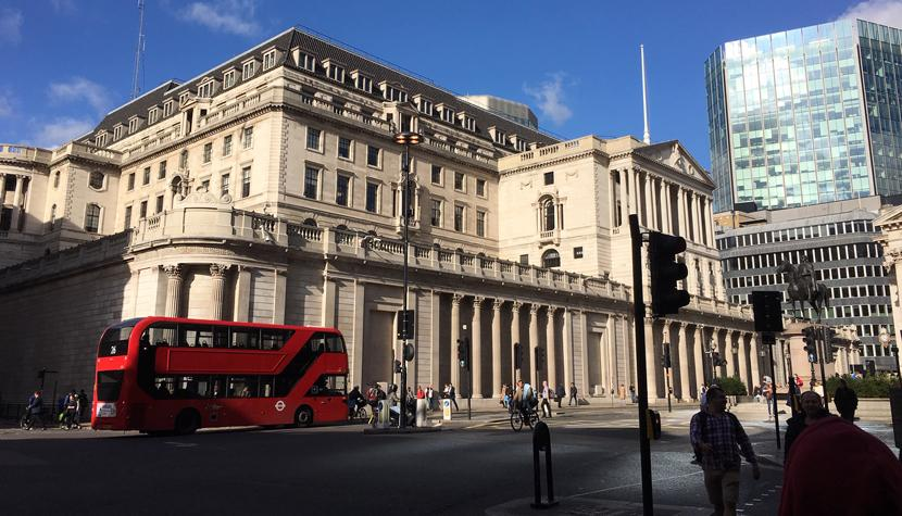Hauptsitz der Bank of England an der Threadneedle Street in London.