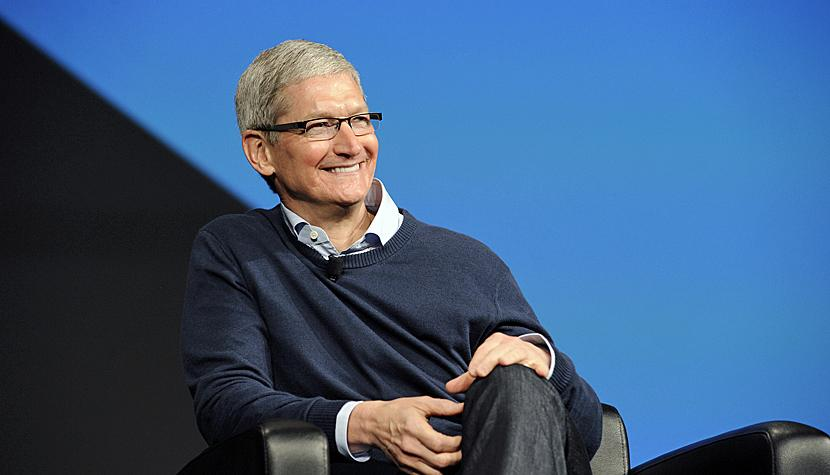 Tim Cook, CEO von Apple, hat gut Lachen.