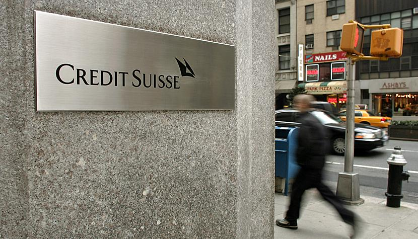 Filiale der Credit Suisse in New York.