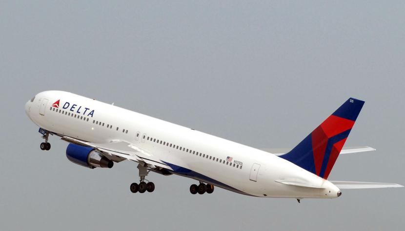 Start einer Boeing 767 der Delta Air Lines.