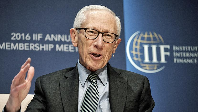 Stanley Fischer, vice chairman of the U.S. Federal Reserve, speaks during the 2016 IIF Annual Membership Meeting (AMM) in Washington, D.C., U.S., on Friday, Oct. 7, 2016.