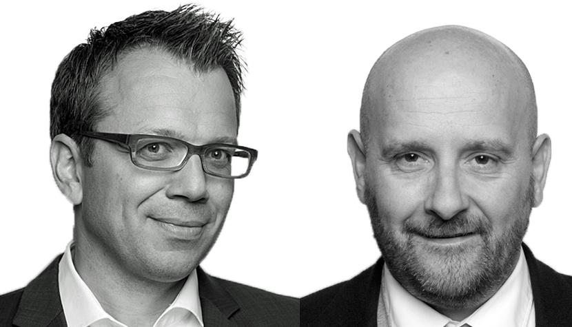 Finanzchef Lukas Leuenberger (links) und CEO Michi Frank von der Goldbach Group.