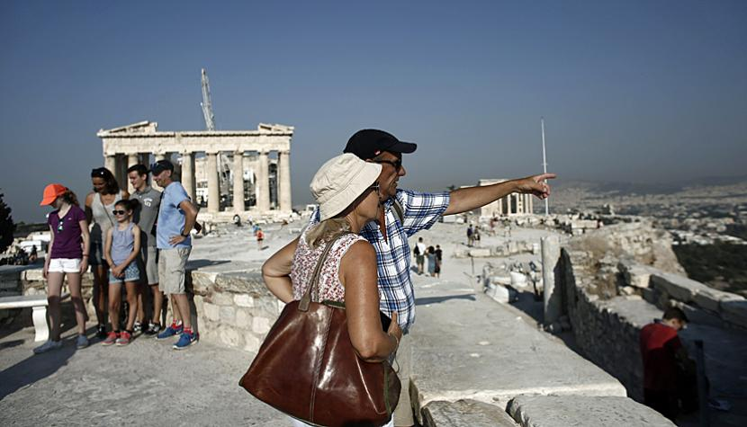 Touristen in Athen.