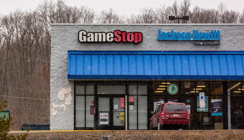 Lockdown? Who cares: Dann shoppen wir halt Aktien. Geschlossene Gamestop-Filiale in Coal Township Pennsylvania.