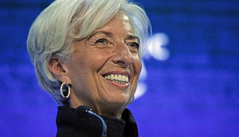 Christine Lagarde am WEF in Davos.