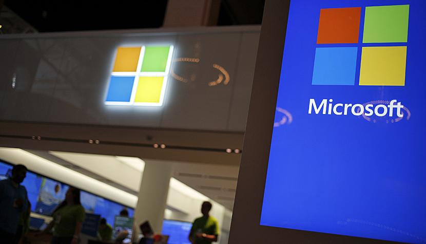 Microsoft an einer Messe in den USA.