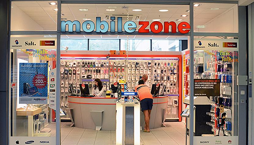 Der Mobilezone-Laden im Seedamm-Center.