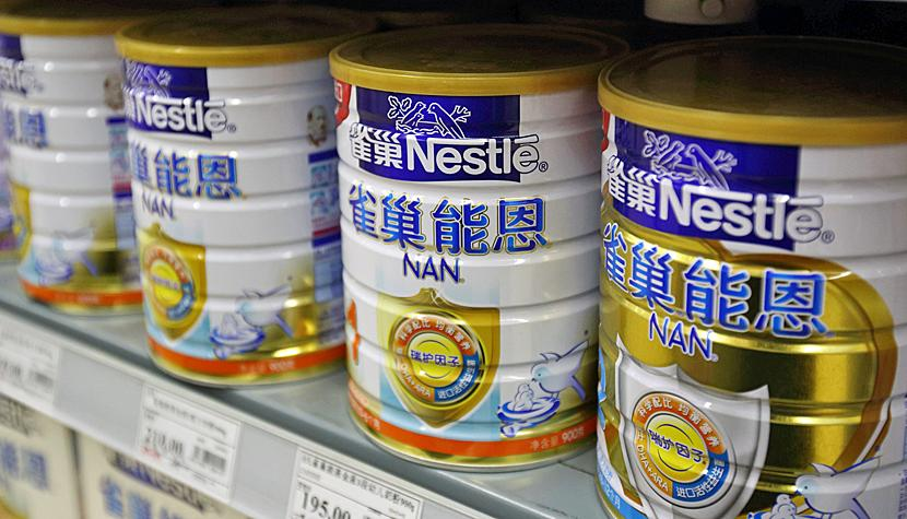 Nestlé-Babynahrung in China.