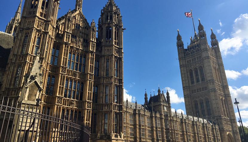The Houses of Parliament, das britische Parlament in London.