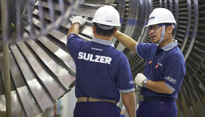 Sulzer Service-Center in Purwakarta in Indonesien.