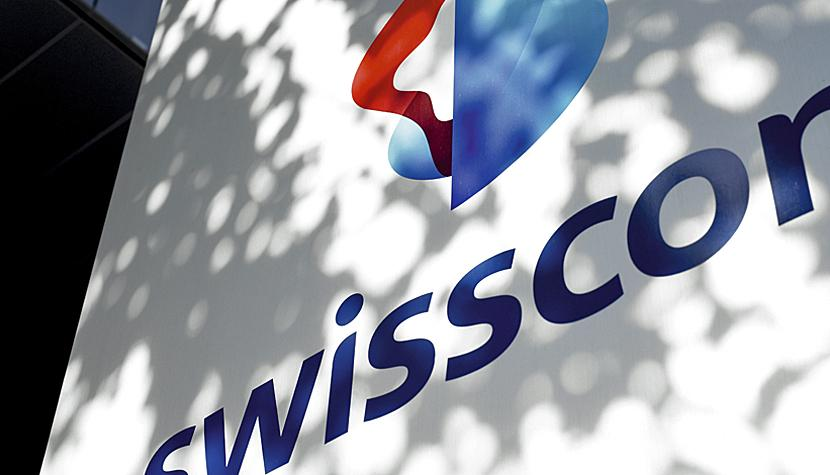 Das Swisscom-Logo am Businesscenter in Köniz.