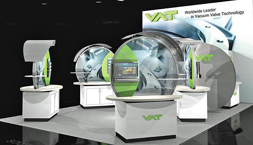 VAT-Stand an der Semicon West in San Francisco.