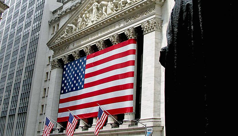 Is America great again? Börse an der Wallstreet in New York.