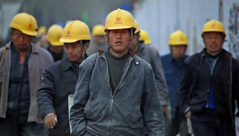 Industriearbeiter in China.